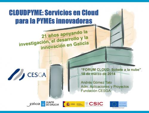 Presentación CloudPYME - CESGA